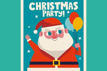 圣诞老人派对宣传单