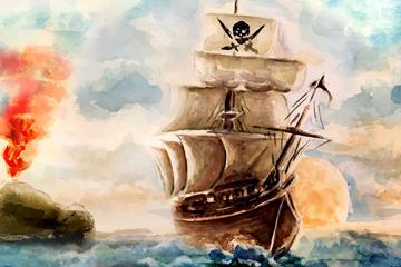 海盗船矢量图