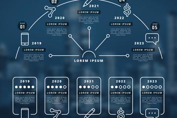 时间轴商务信息图