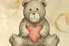 玩偶熊矢量图