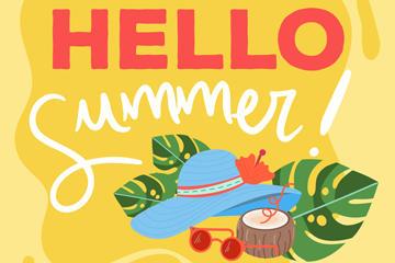 你好夏天主题海报