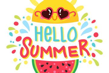 夏季元素插画素材