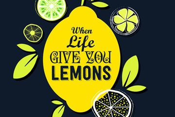 创意柠檬海报背景图片