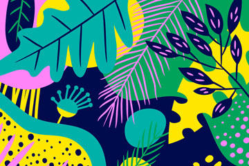 抽象彩色树叶背景矢量素材