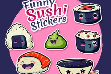 可爱寿司贴纸