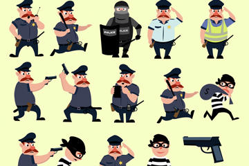 警察矢量图