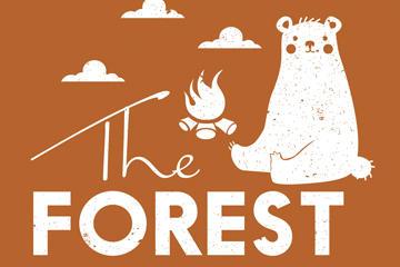 创意森林艺术字图片