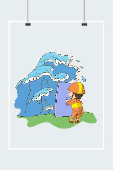 抗洪抢险创意图片