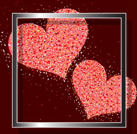 满屏网红爱心背景图片