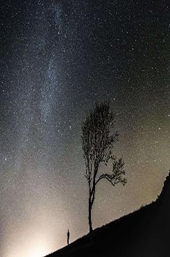 唯美夜空背景图片