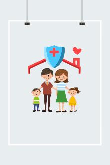 医疗保险创意插画
