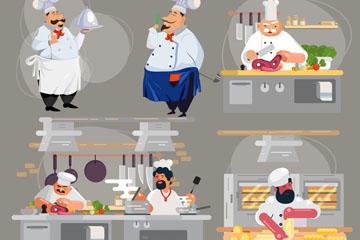 餐厅厨师免抠图