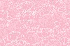 牡丹花纹背景图片