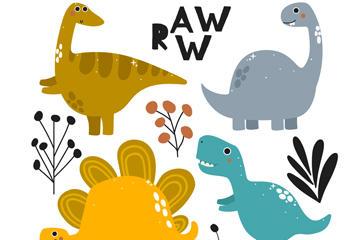 可爱恐龙图片