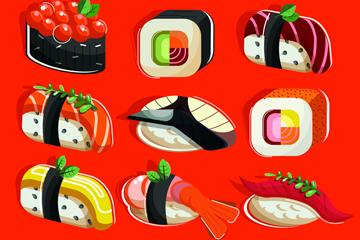 美味寿司矢量图