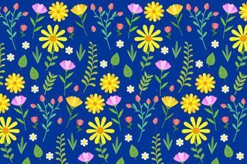 深蓝底黄花背景图片