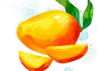 手绘芒果矢量素材