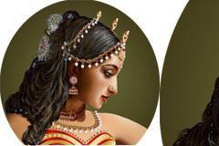 印度风情美女矢量素材