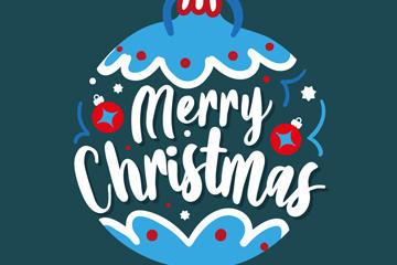 圣诞快乐设计字体矢量图