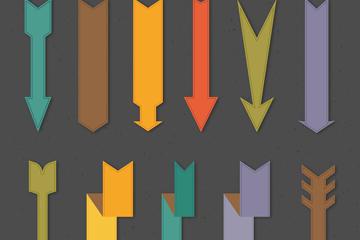 扁平化箭头矢量图