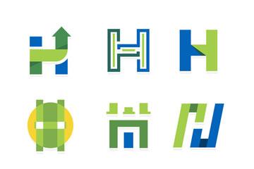 英文字母logo矢量图