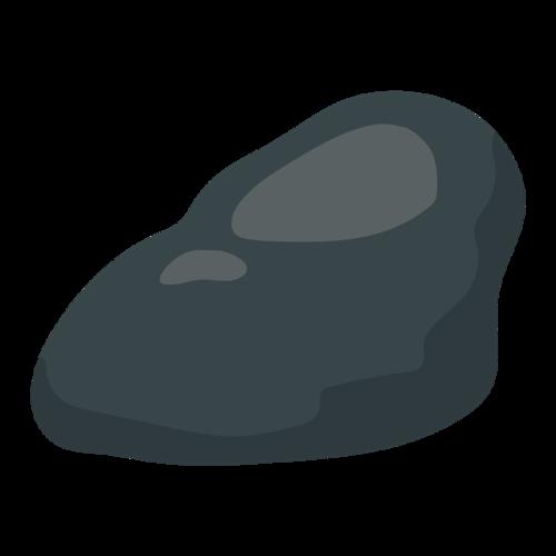 黑色石头矢量图