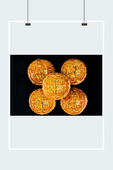 中秋节美食月饼矢量图
