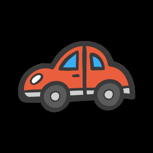 小汽车绘画图片