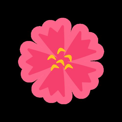 红色装饰花