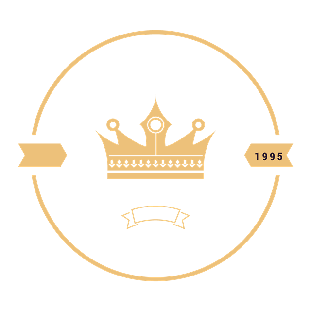 圆形皇冠花纹边框