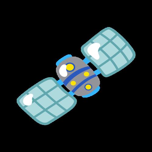 卫星卡通素材