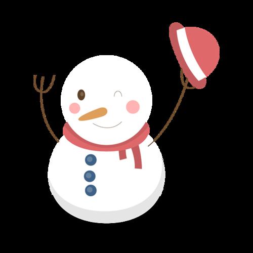 矢量雪人图片