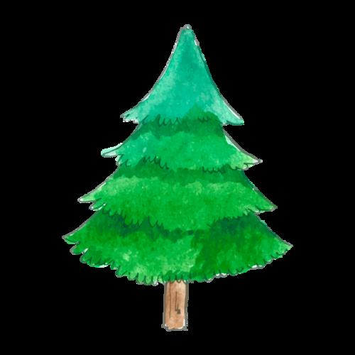 卡通松树矢量图