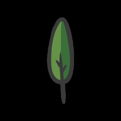 简约彩绘树叶