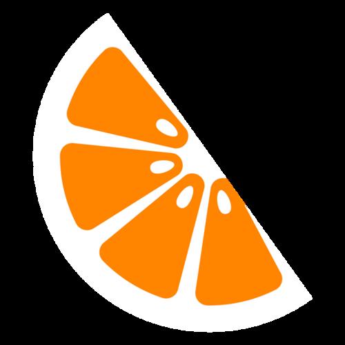 卡通橙子切片图片