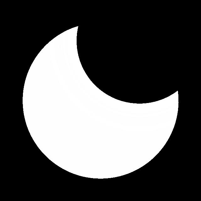 唯美夜空发光月亮图片
