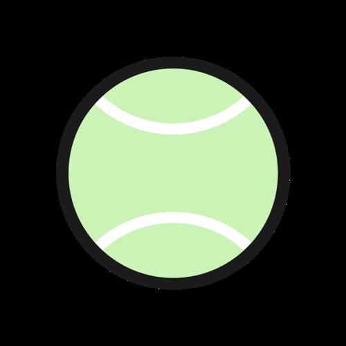 扁平网球矢量图
