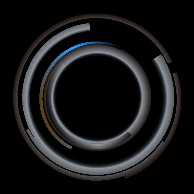 发光圆环光效矢量图