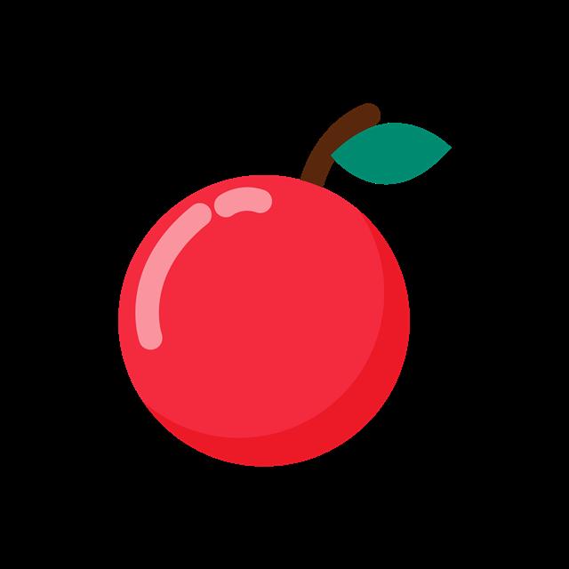 卡通苹果矢量图