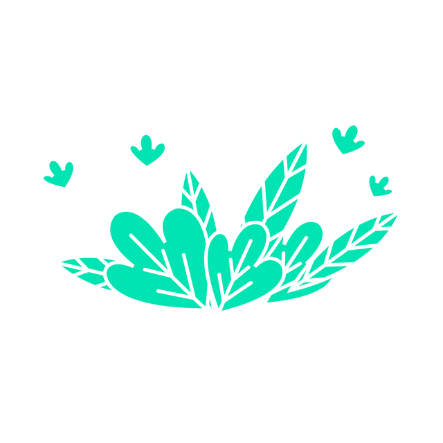 花朵绿叶矢量图