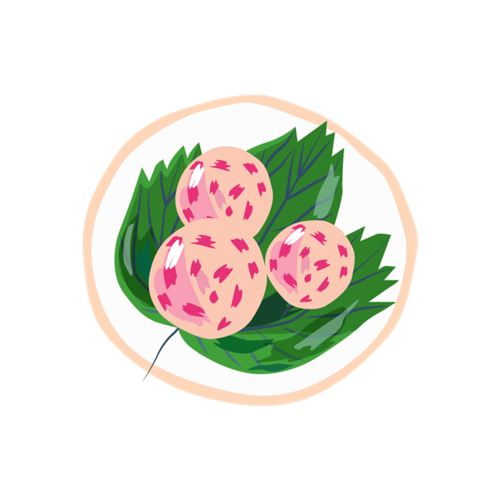 三颗水果矢量图