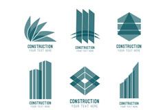 建筑图标矢量图