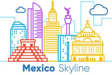 墨西哥建筑矢量图