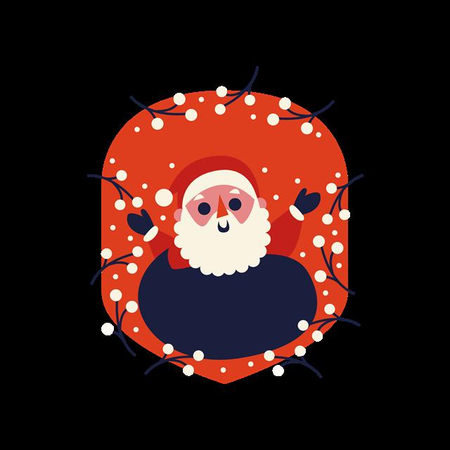 圣诞老人装饰图案