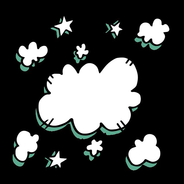 漫画气泡对话框