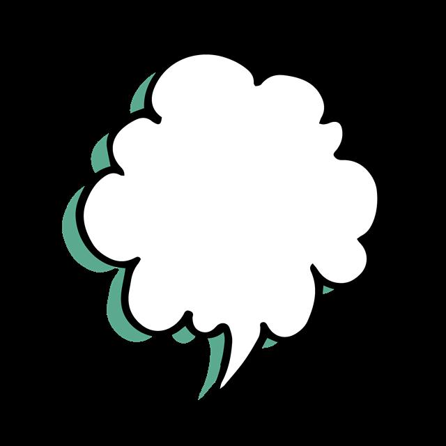 卡通蘑菇云对话框