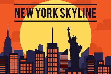 纽约建筑矢量图