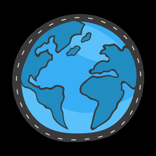 蓝色地球免抠图