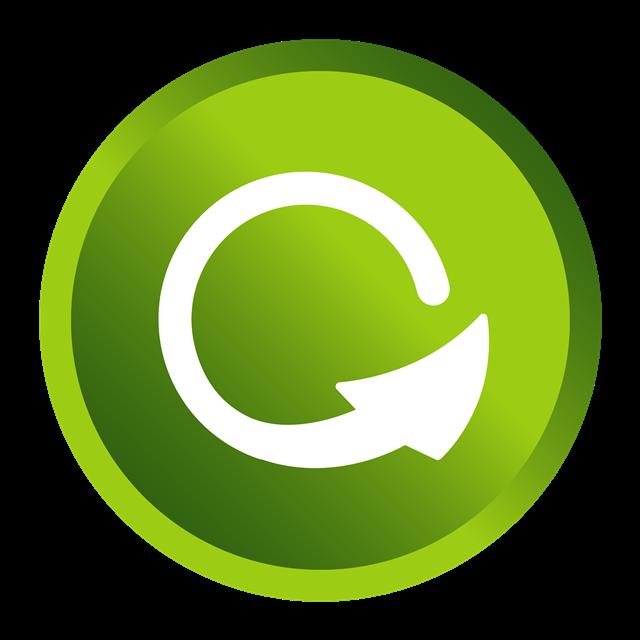 绿色刷新按钮图标设计