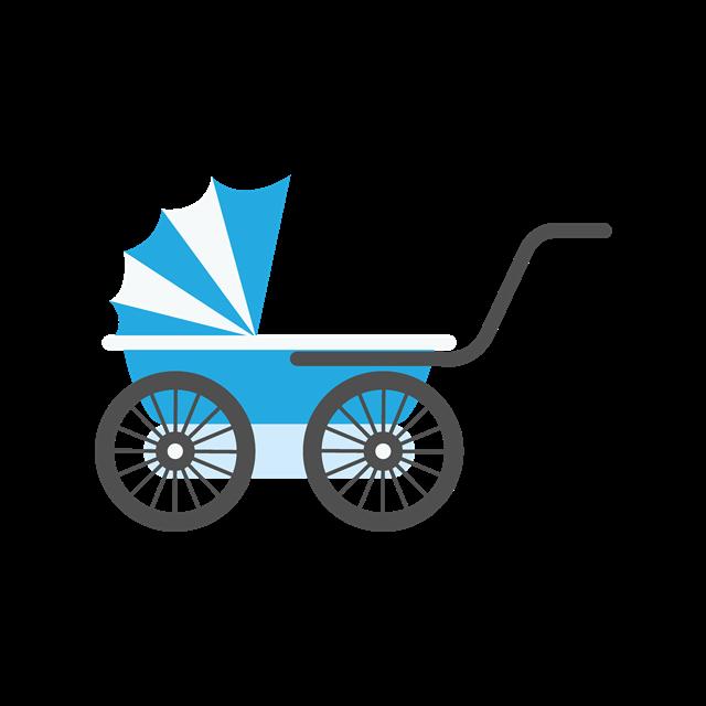 婴儿车卡通图片